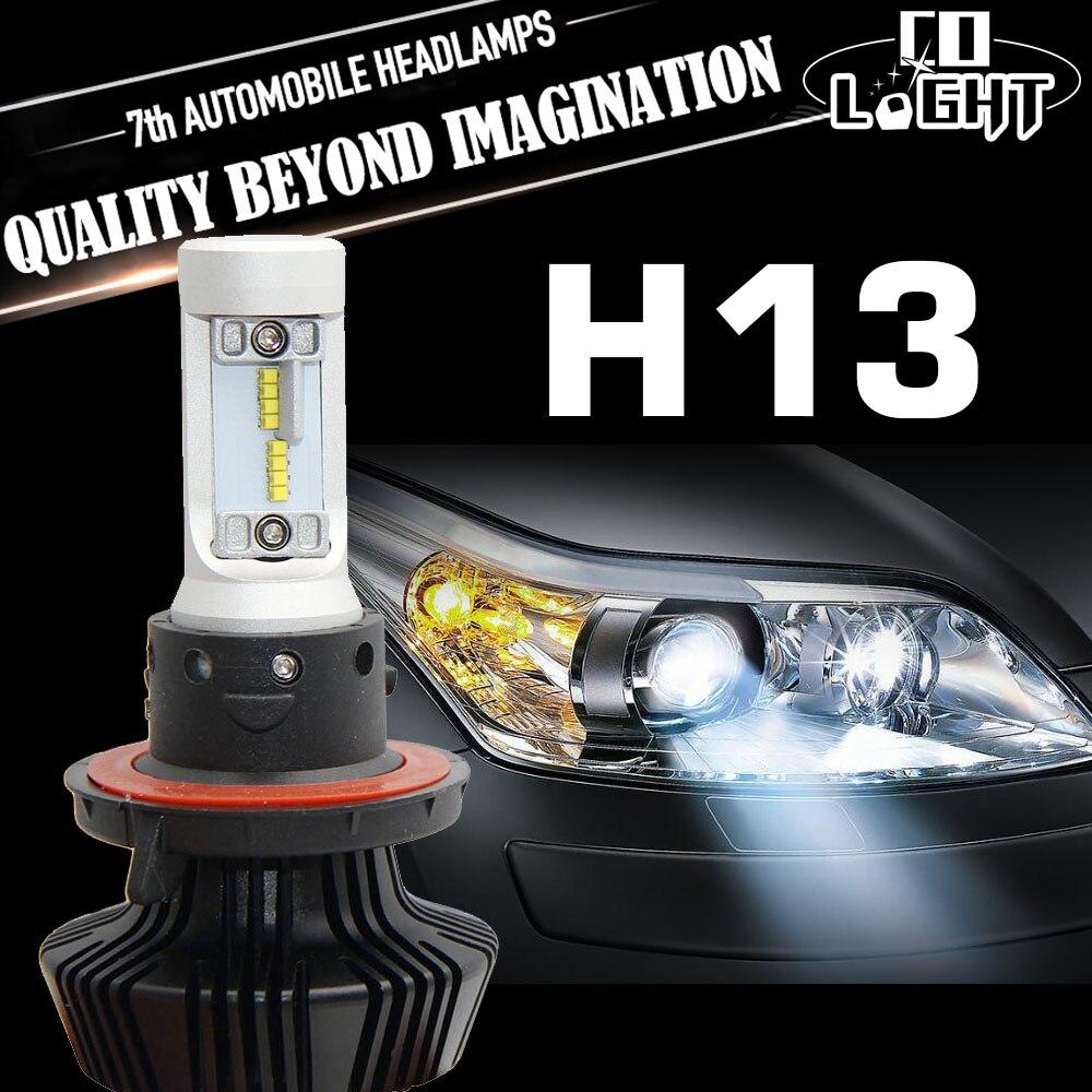 CO LIGHT H4 H13 Led 12V 24V CSP Chip Car Headlight Hign Low Beam Fog Driving Light Lamp Bulb 6500K White Light Kit For Jeep