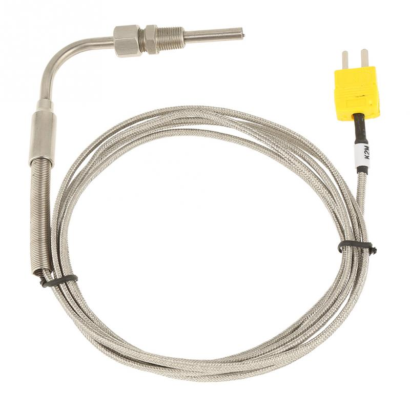 EGT Thermocouple K Type 1//8 NPT Temperature Probe Sensors Exhaust Gas Temp Probe with Exposed Tip /& Connector,Stainless Steel