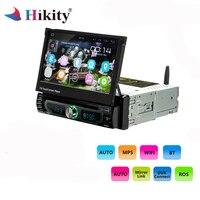 Hikity 10,1 1 din мультимедиа для Android Wifi Автомобильный Радио gps навигация универсальный CD/DVD плеер FM AM USB 1 din Авторадио Стерео