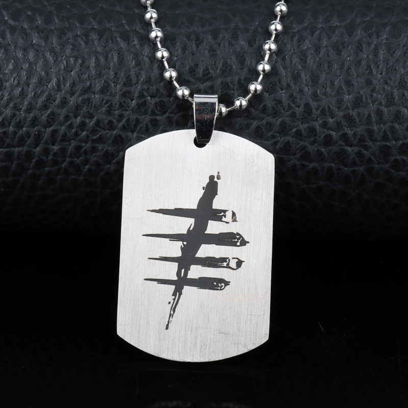 Wholesale Necklaces for Man Dead by Daylight Logo Dog Tags Pendants Collier Beads Chain Hip Hop Necklace