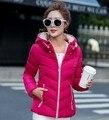 Cheap wholesale 2017 autumn hot sale Brand Short design female down cotton warm Jacket outerwear winter with a hood basic coats