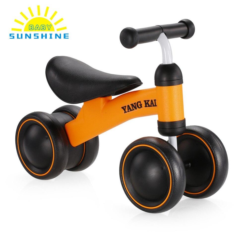 Üç tekerlekli bebek çocuk denge bisikleti Scooter bebek yürüteci bebek 1-3 yıl Scooter yürümeyi öğrenmek hiçbir ayak pedalı yeni binek oyuncaklar