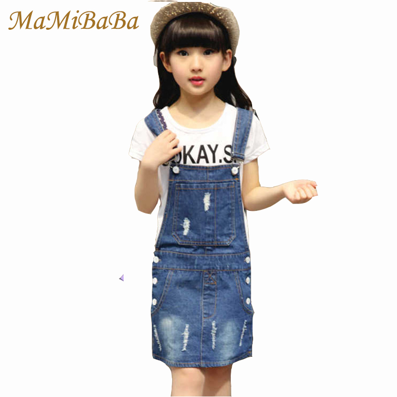Princess Dresses For Girls 2018 Fashion Spring Cotton Baby O-neck Denim Overall Dress Baby Girl Sweet Children Clothing ds425 ladybird appliques dress wholesale clothing for girls princess baby boutique o neck clothes children polka dot dresses 6pcs lot