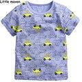 Little maven crianças marca de roupas de verão 2016 meninos de manga curta O-neck t shirt de Algodão de impressão carro crianças marca t tops L063