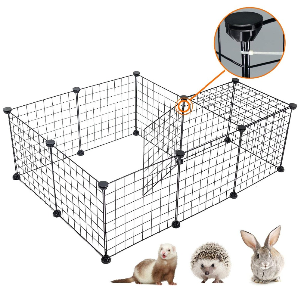 Pet Playpen Iron Fence Collapsible Puppy Kennel House Exercise Security Gate Dogs Supplies Cat Crate Rabbits Guinea Pig Cage 1