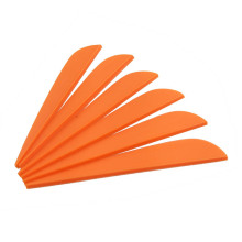 50pcs Archery Arrow Feather  3 Inch Drop Shape Rubber TPU Fletching Vanes
