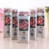 Value Set 48Pcs Watercolor Pencils Stationary Tool For Secret Garden Watercolor Box Color Pencil Set High