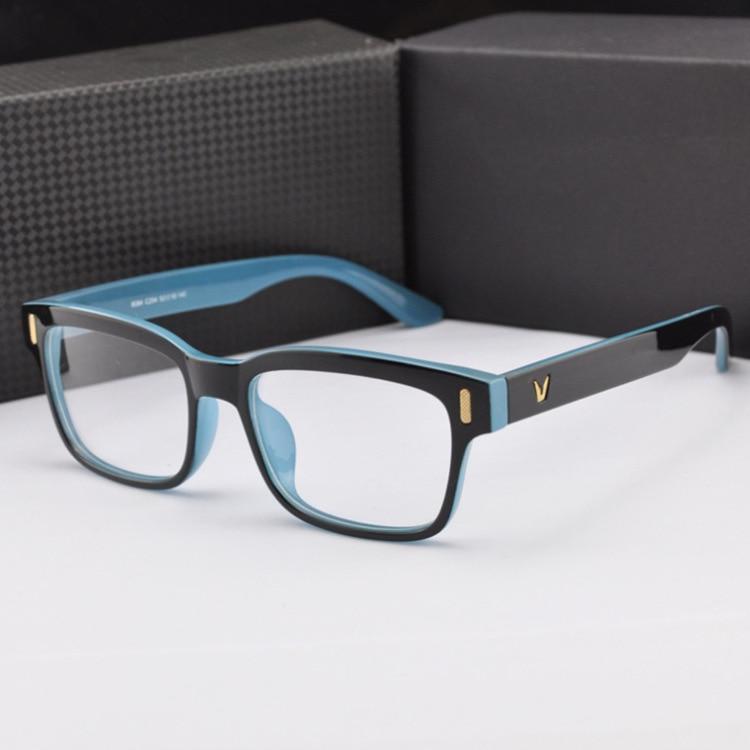 Marcos de anteojos de gafas de grado de diseño de marca vintage Marcos de anteojos Gafas para mujeres Marco de gafas de espejo óptico liso