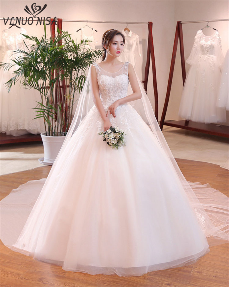 Real Simple Weddings Magazine 2018: 2018 New Fashion Simple Ball Gown Real Images Wedding