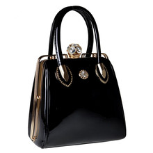 2017 Fashion Skull Diamonds Patent Leather Women Bag Crystal Ladies Evening Bag Bride Tote Bag women's handbags Brand Designer