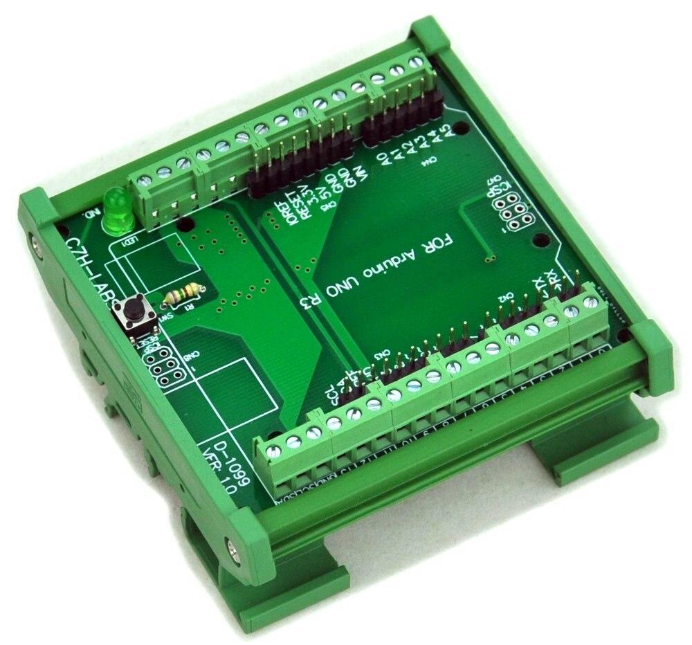 цена DIN Rail Mount Screw Terminal Block Adapter Module, For UNO R3. в интернет-магазинах