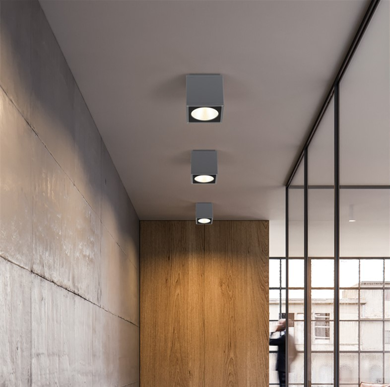 Outdoor Led Ceiling Light Surface Mounted Lighting Square For Bathroom Balcony Stair Way Grey Ing Warm White
