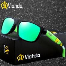 VIAHDA Polarized Aviation Driving Sunglasses Mens Retro Male Goggle Sun Glasses For Men Brand Luxury Mirror Shades Oculos