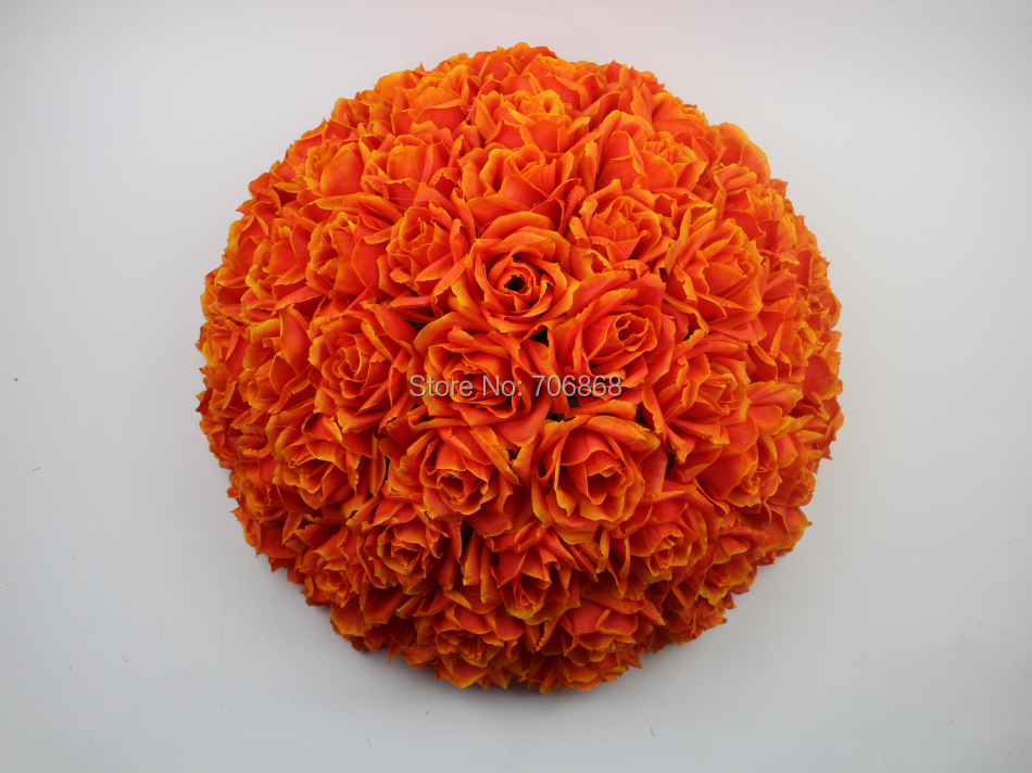 2017 Highly Excellent 12inch Free Shipping Silk Artificial Rose Kissing Flower Ball