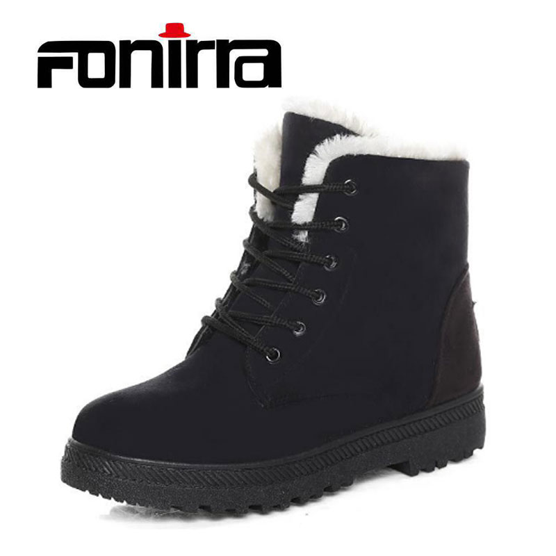 FONIRRA 2017 Women Snow Boots new arrival women winter boots warm snow boots fashion heels ankle boots for women shoes 225 taima brand new arrival winter fashion women boots warm fur ankle snow boots black ladies style winter women shoes page 2
