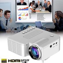 Video Projector UC28B Projector LED Projector Portable Durable Support TF Card 4: 3/16: 9 Teaching Home Theater