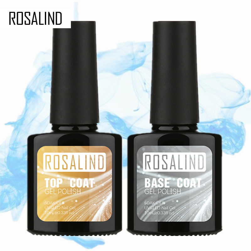 ROSALIND 10ML capa superior gel de capa base de esmalte de uñas de gel para decoración de uñas esmalte de uñas en gel UV LED multi-uso base superior