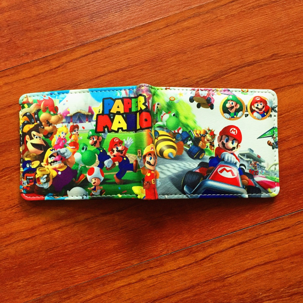 Cartoon Super Mario Wallet Women Men Casual high quality Short Wallet slim purse Card Holder Teenagers Money Cash Bag W614