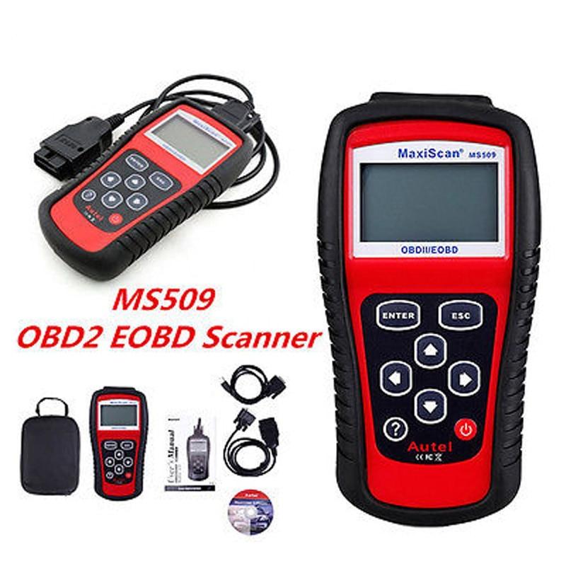 ELM327 Code Reader Car Diagnostic Scan Tool MS509 OBD/EOBD CAN ELM 327 Scanner Tool Auto Code Reader For US&Asian&European Car elm327 1 5 obd 2 bluetooth diagnostic car smart scan tool mini elm 327 v 1 5 obd2 auto scanner code reader just for android
