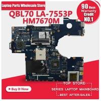 Para ASUS X73T K73T K73TA K73TK R73T Latop motherboard QBL70 LA-7553P HM7670M Mainboard 100% probado y muy bien el trabajo