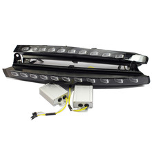 Led daytime running lights for Audi Q7 2006 2007 2008 2009 front bumper fog driving lamp with canbus relay