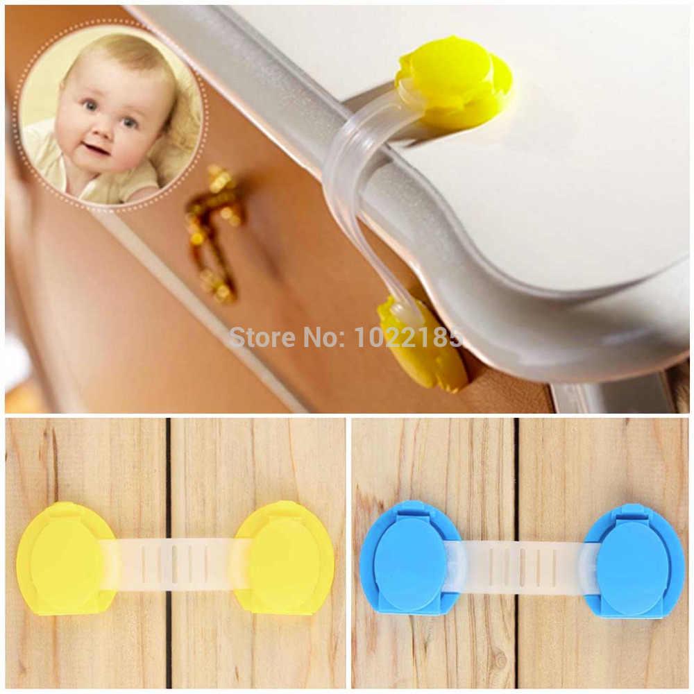 Puerta de gabinete de cajones nevera baño de seguridad de bloqueo de plástico para niño chico de bebé caliente