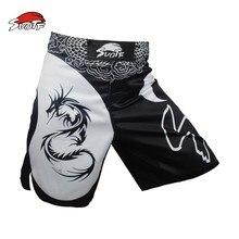 Kickboxing Shorts MMA Muay-Thai Size-Training SUOTF Dragon Cotton Domineering Motion-Picture
