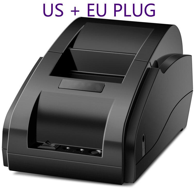 POS Thermische Drucker Mini 58mm USB POS Erhalt Drucker Für Resaurant und Supermarkt EU/US-STECKER