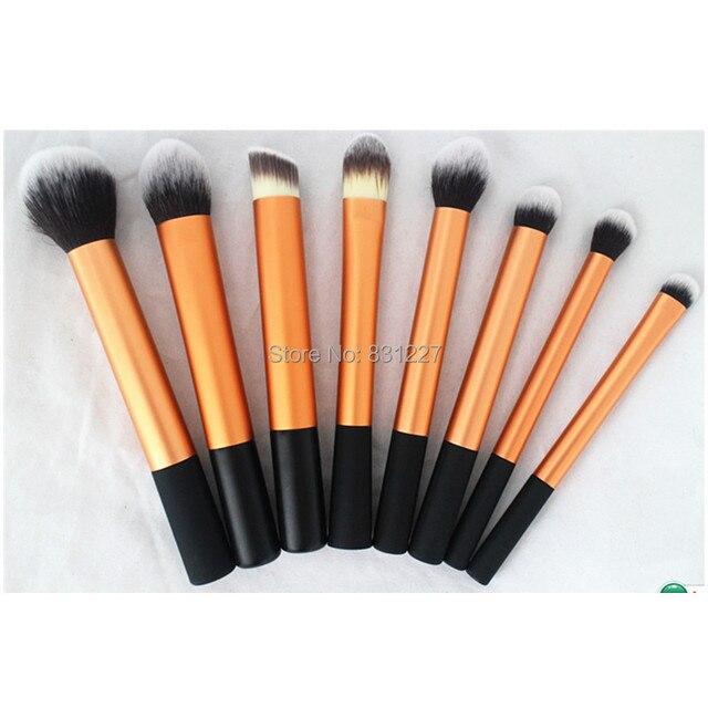 8 шт. золото косметические кисти для макияжа комплект, высокие профессиональные качества щетки
