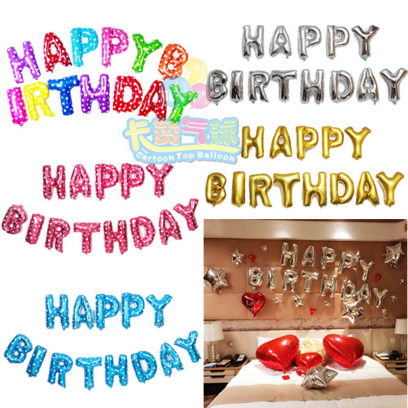 Happy Birthday balloon Letters Alphabe Aluminium foil balloons inflatable toy we