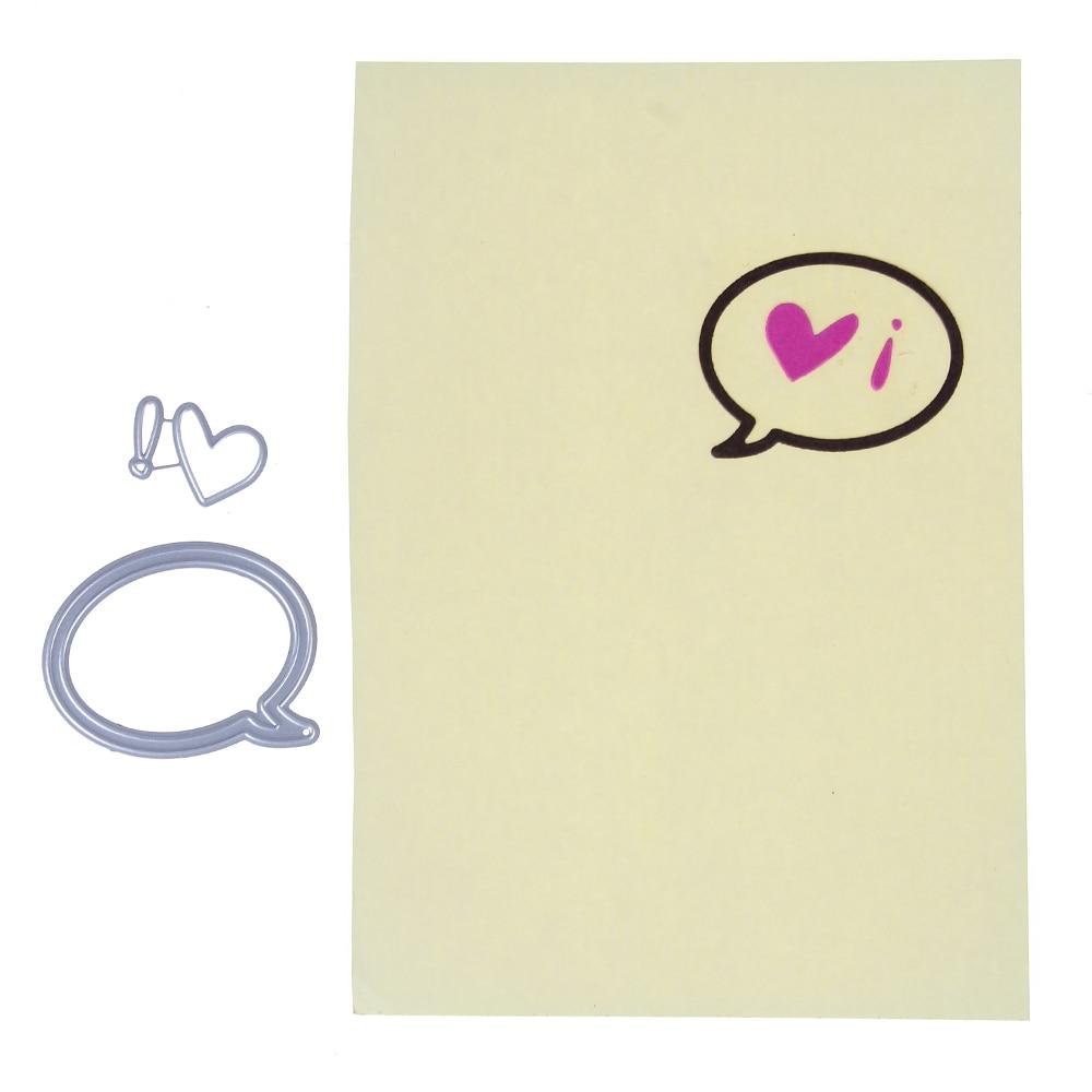 53*43mm scrapbooking DIY chat love frame Shape Metal steel cutting die flower Shape Book photo album art card Dies Cut