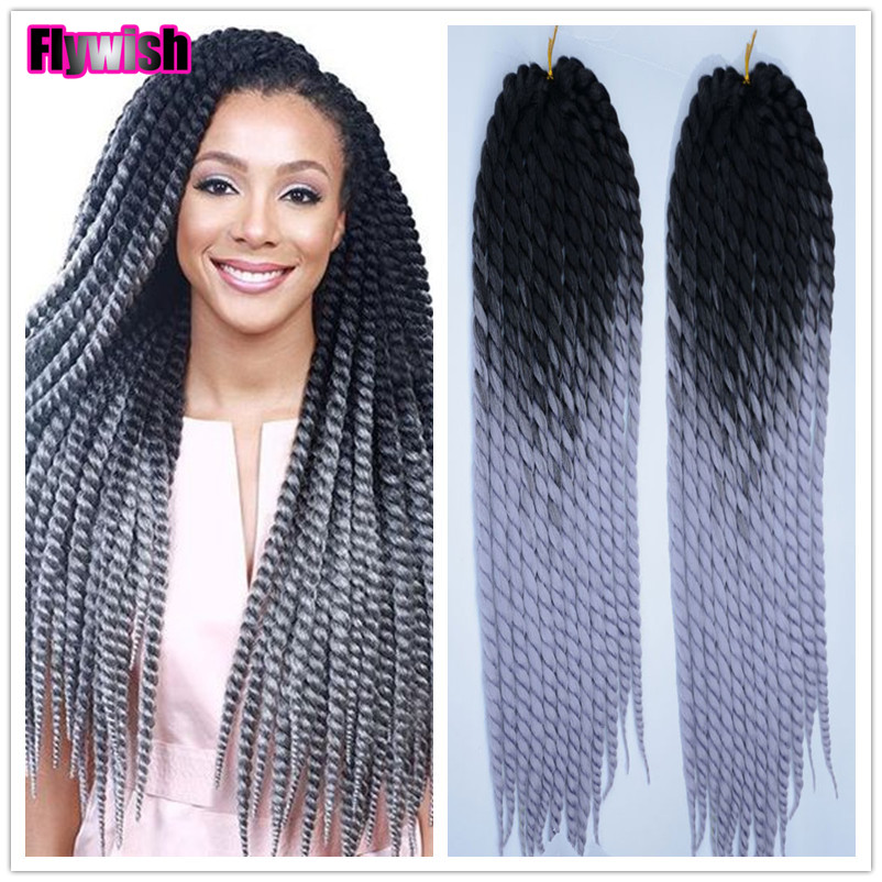 New 2X 22in Crochet Braids Ombre Crochet Marley Twist