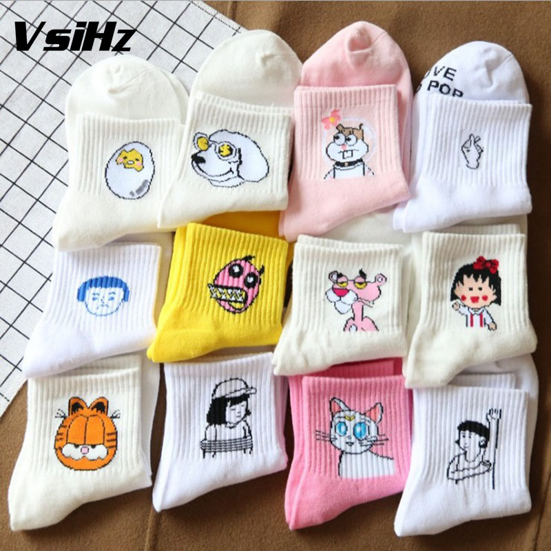 Funny creative characters animal Graphic Cotton   socks   women High quality girl   socks   Cute fashion popular   socks