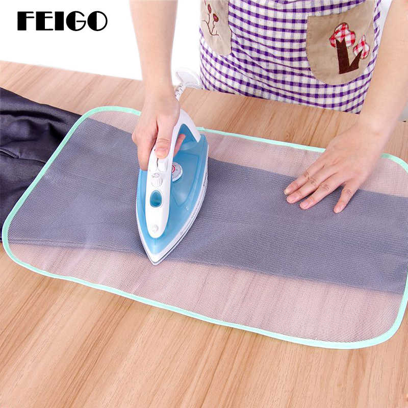 FEIGO 1Pc 40x60Cm Ironing Mat Protection Clothes Ironing Net High Temperature Insulation Mesh Clothing Protective Mesh Pad F223