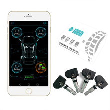 Universal Car font b TPMS b font Tire Tyre Pressure Monitoring System Bluetooth 4 0 Connection