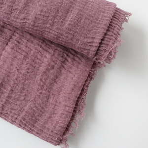 Image 5 - One piece women maxi hijabs shawls oversize islamic head wraps soft long muslim frayed crepe premium cotton plain hijab scarf