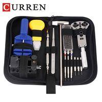 CURREN 14 /16 pieces watch repair tool Kit Pin Set Watch Case Opener Link Remover Screwdriver Tweezer Watchmaker Dedicated