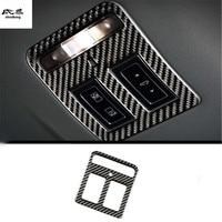 1pc Car sticker Epoxy glue carbon fiber grain reading light panel decoration cover for Jaguar XEL XFL F PACE