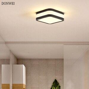 Современный светодиодный потолочный светильник, Простой декоративный осветительный прибор для кабинета, столовой, спальни, гостиной, балк...