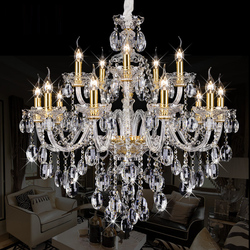 LED świeca lampy kryształowe nowoczesne jasne kryształowe żyrandole jadalnia luksusowy żyrandol oświetlenie sypialni oprawa lampy ze szkła