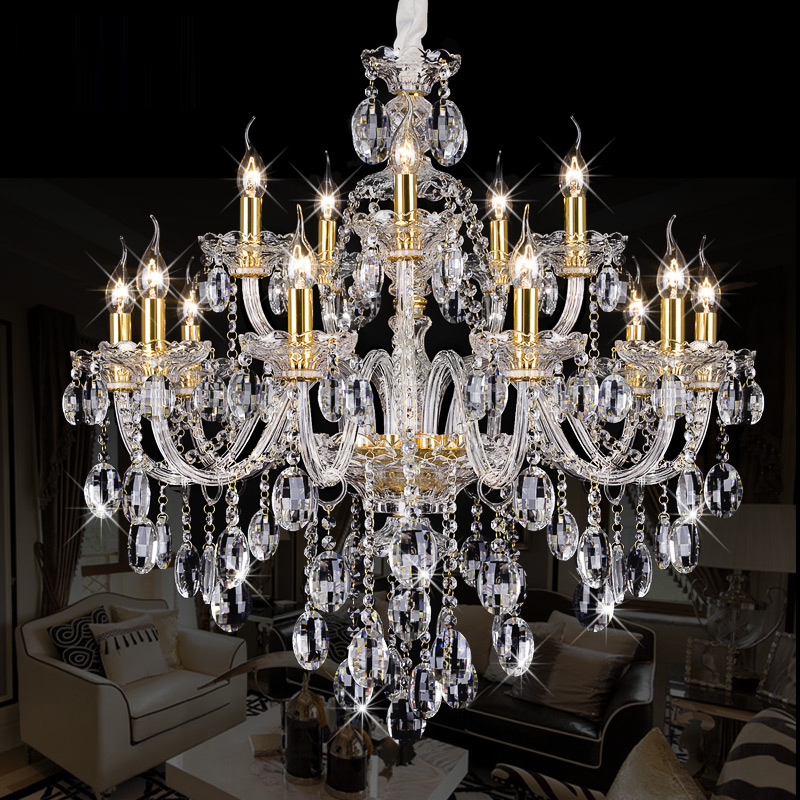 LED candle crystal lamp Modern Clear crystal chandeliers Dining Room Luxury Chandelier Bedroom Lighting Fixture Glass Lamps|crystal chandelier lighting|chandelier lighting|crystal lamp - title=
