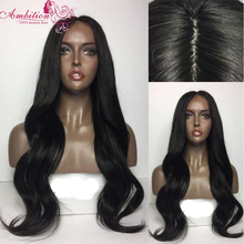 Brazilian virgin human hair Glueless Full Lace Human Hair Wig Middle part body wave 150 density Lace Front wigs for black women