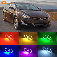 For Hyundai Elantra 2014 2015 2016 PROJECTION HEADLIGHT Excellent Multi Color Ultra Bright 7 Colors RGB