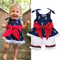 Fashion Toddler Newborn Baby Girl Anchor Tops Blue Vest+White Shorts Pants 2pcs Outfits Set Clothes 0-24M
