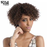 Styleicon Hair Brazilian Remy Human Hair Kinky Curly Wig 12 Inch Color F4/30 Short Hair Wigs Free Shipping