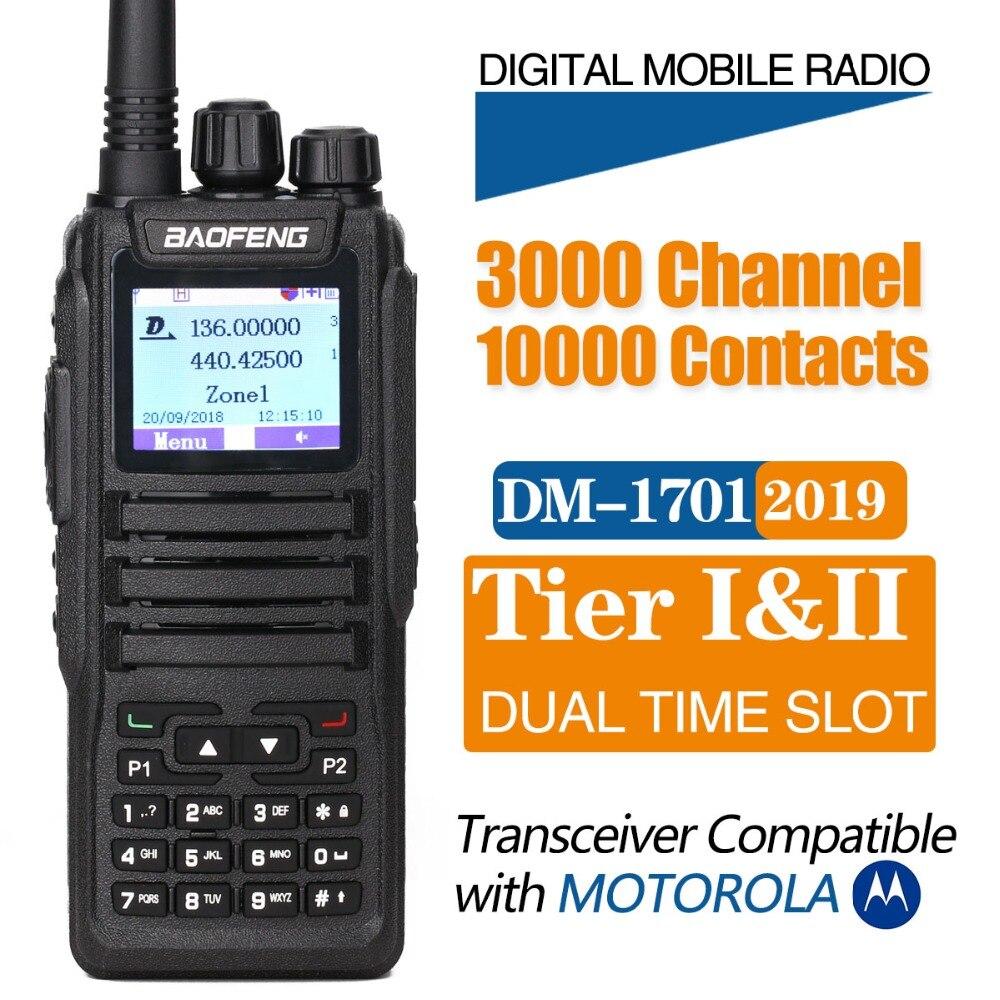 Baofeng DM-1701 Dual Band Two Way Radio Numérique DMR Jambon Radio amateur Transceiver Station Talkie Walkie Niveau 2 Dual Time