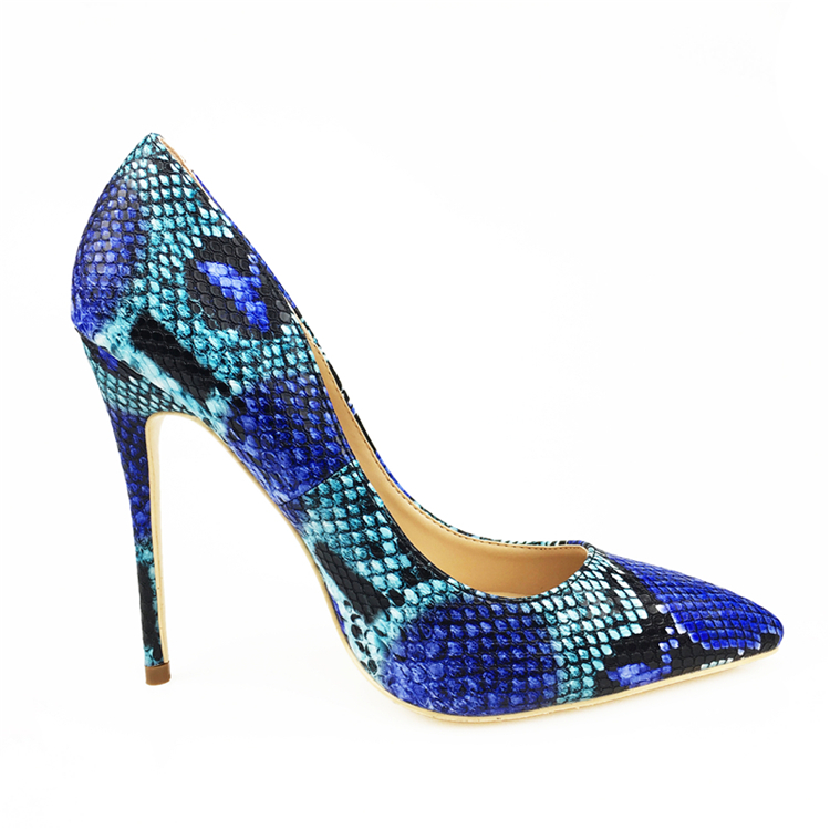 NEW Arrival Women Shoes Blue Snake Printed Sexy Stilettos High Heels Pointed Toe Women Pumps HTB15ZckbTnI8KJjy0Ffq6AdoVXaN