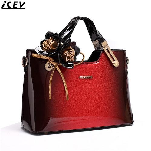 New Fashion Flower Women Leather Handbags Luxury Handbag Women Bags Designer High Quality Handbags Ladies Office Totes Bolsa Sac