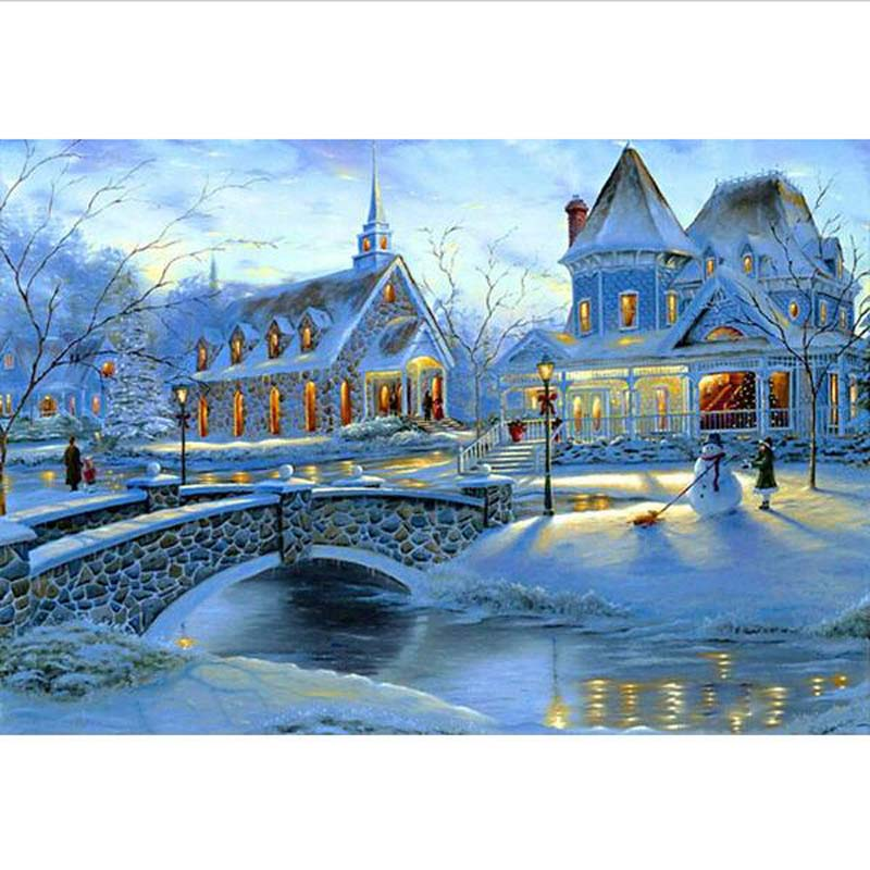 Jigsaw Paper Puzzle 1000 Pieces Warm Snow With Colorful Box Great Educational Toy Jigsaw ...