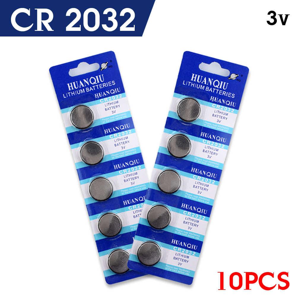 Giá Rẻ 10 Chiếc BATTERIE CR2032 Pin 2032 3V Lithium Loại Nút Đồng Xu Cell Pin Đồng Hồ 5004LC ECR2032 DL2032 KCR2032